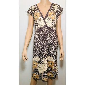 Halogen Nordstroms 100% Silk Cap Sleeve Dress Sz L